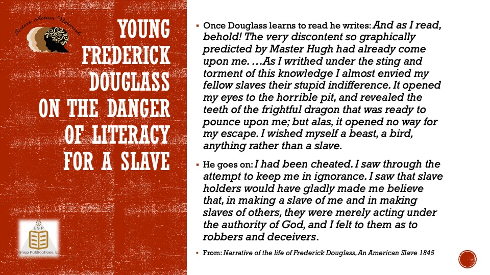 1845 F Douglass Literacy